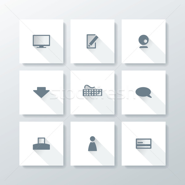 Vector flat web icon set Stock photo © ojal