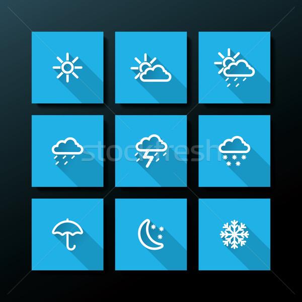 погода небе свет дизайна ночь Сток-фото © ojal