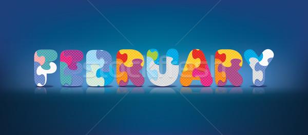 Stockfoto: Vector · geschreven · alfabet · puzzel · liefde · achtergrond