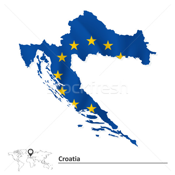 Kaart Kroatië europese unie vlag abstract Stockfoto © ojal