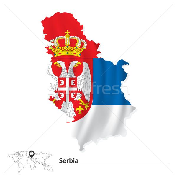 Mapa Serbia bandera textura resumen diseno Foto stock © ojal