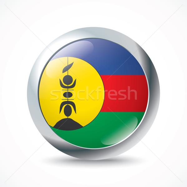 Nuovo bandiera pulsante segno silhouette colore Foto d'archivio © ojal