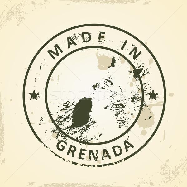 Bélyeg térkép Grenada grunge textúra világ Stock fotó © ojal