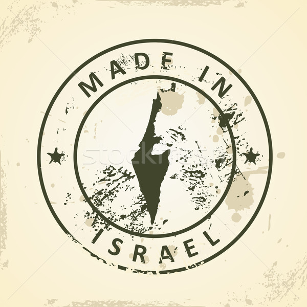 Stamp with map of Israel Stock photo © ojal
