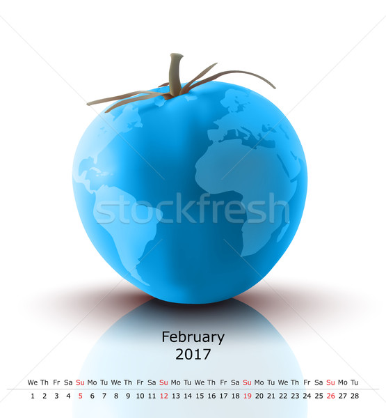 February 2017 tomato calendar Stock photo © ojal