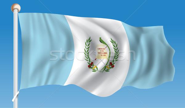 флаг Гватемала текстуры город знак путешествия Сток-фото © ojal