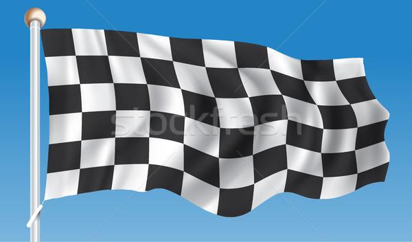 Gara bandiera abstract design tessuto Foto d'archivio © ojal