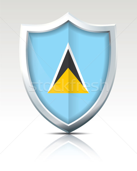 Shield with Flag of Saint Lucia Stock photo © ojal