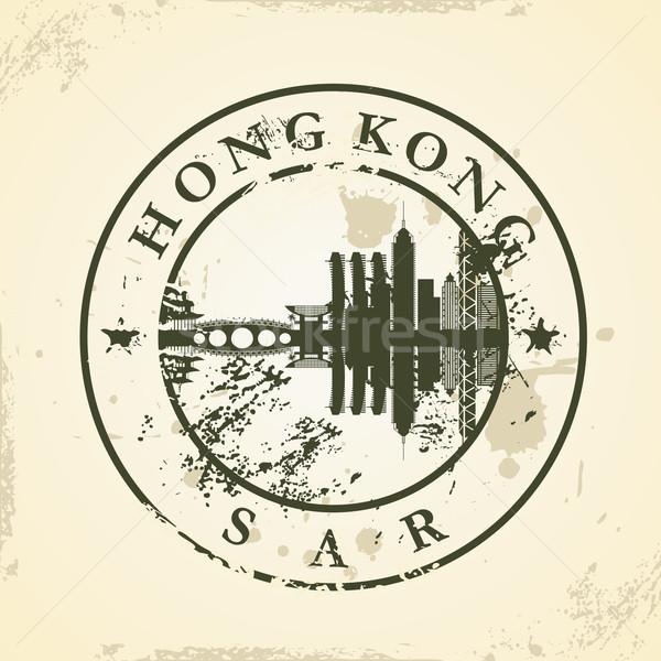 Grunge rubber stamp with Hong Kong, SAR Stock photo © ojal