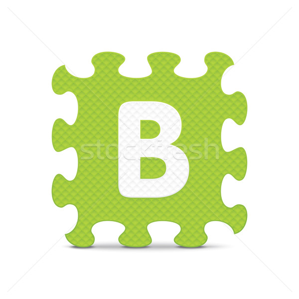 Vector letter 'B' written with alphabet puzzle Stock photo © ojal