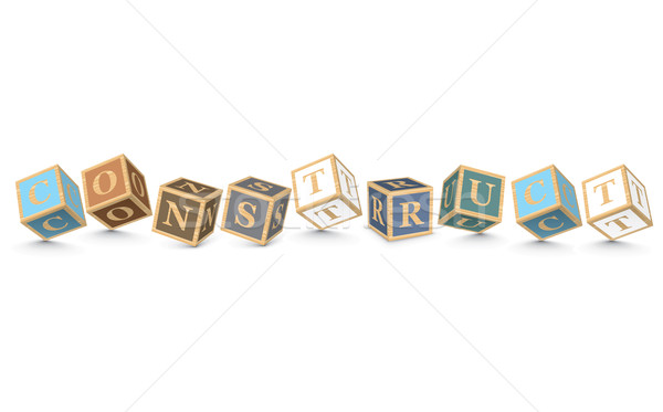 Word CONSTRUCT written with alphabet blocks Stock photo © ojal