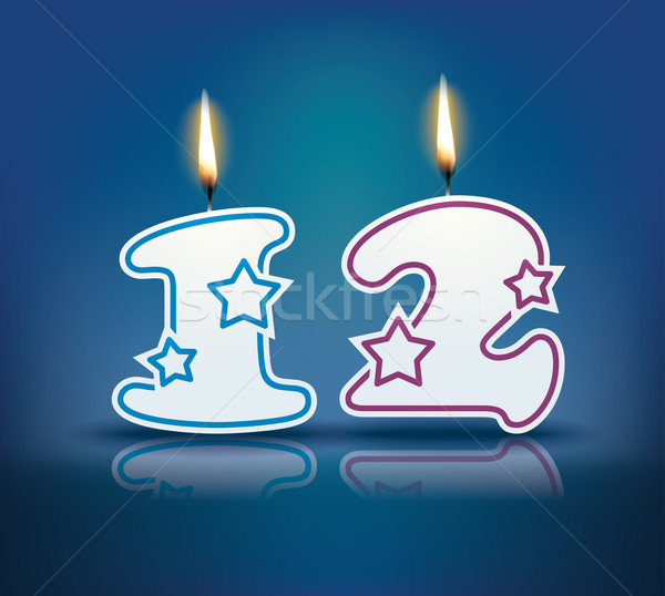 Birthday candle number 12 Stock photo © ojal