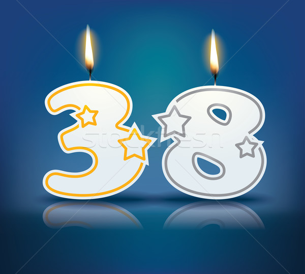 Birthday candle number 38 Stock photo © ojal