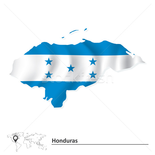 Map of Honduras with flag Stock photo © ojal