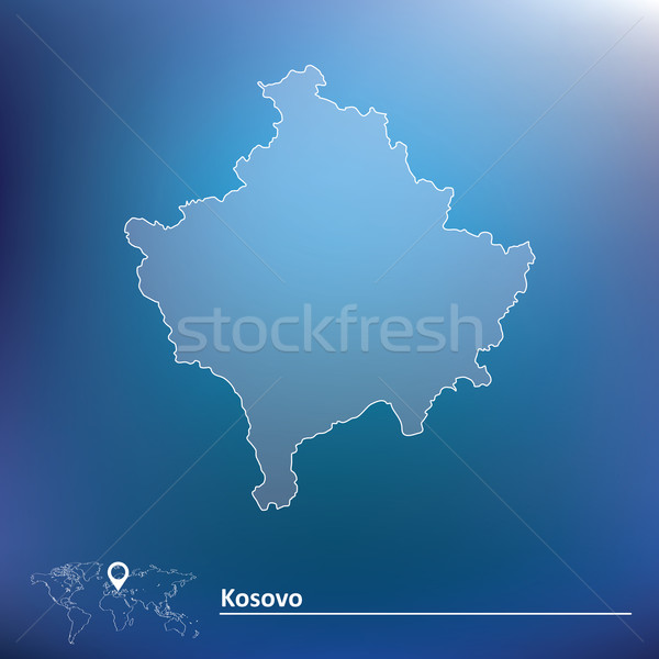 Map of Kosovo Stock photo © ojal
