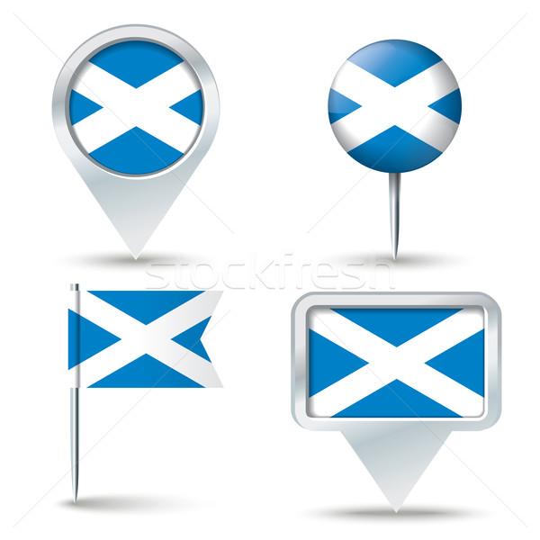 Mapa bandeira escócia negócio abstrato viajar Foto stock © ojal