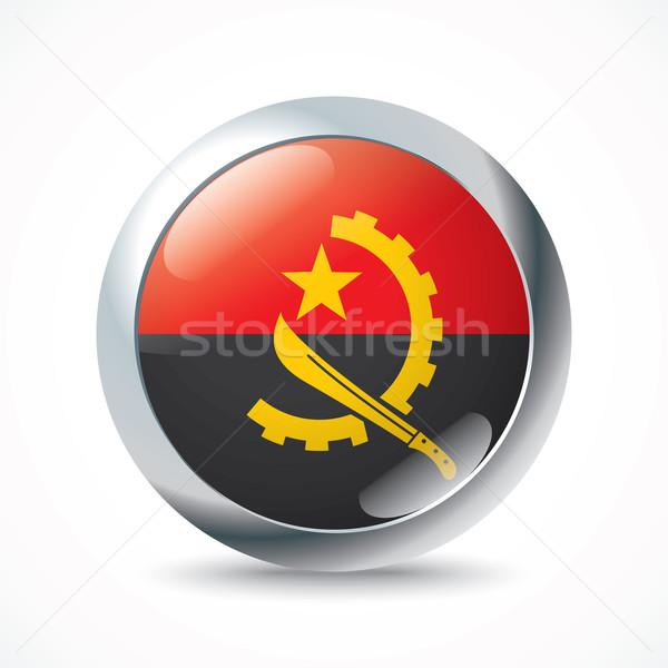 Ангола флаг кнопки Мир путешествия диаграммы Сток-фото © ojal