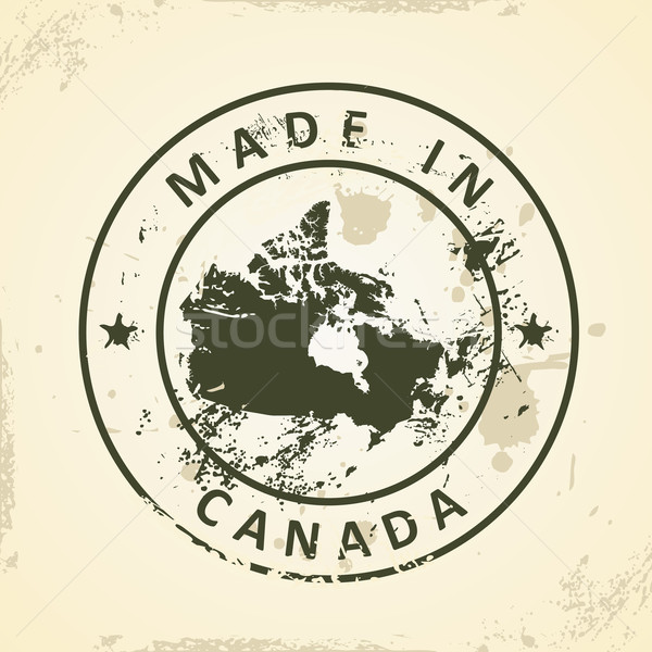 Stamp with map of Canada Stock photo © ojal