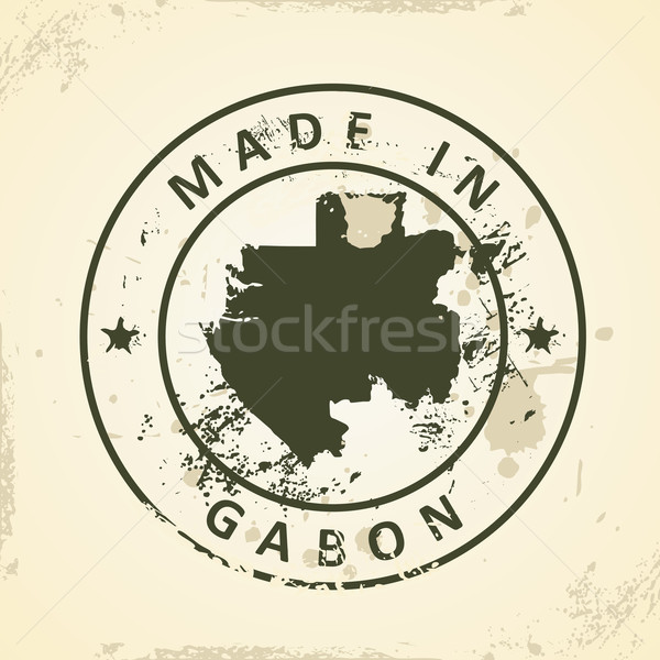 штампа карта Габон Гранж текстуры аннотация Сток-фото © ojal