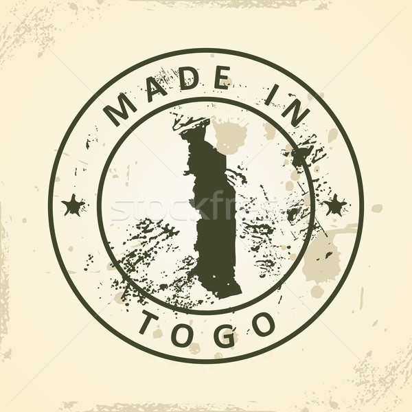 Stamp with map of Togo Stock photo © ojal