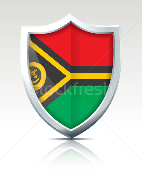 Shield with Flag of Vanuatu Stock photo © ojal