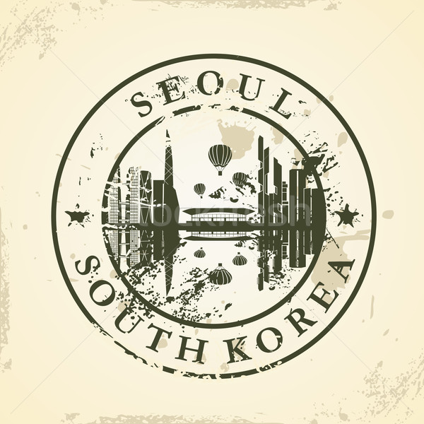 Grunge rubber stamp with Seoul, South Korea Stock photo © ojal