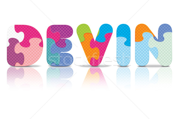 Vector DEVIN written with alphabet puzzle Stock photo © ojal