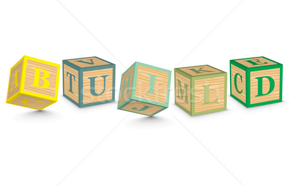 Palabra construir escrito alfabeto bloques negocios Foto stock © ojal