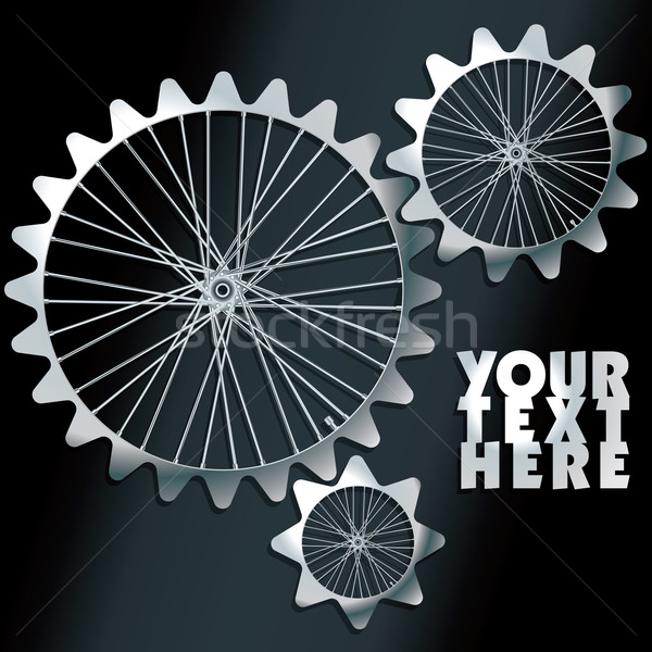 Vector machine gears with spokes background Stock photo © ojal