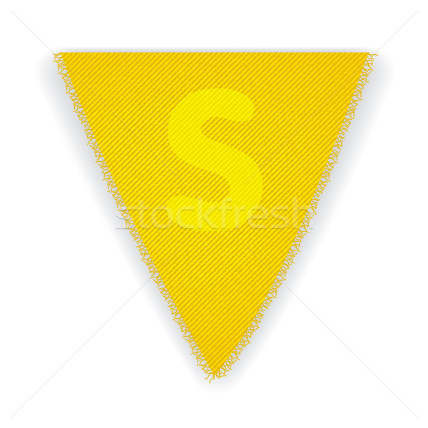 Bunting flag letter S Stock photo © ojal