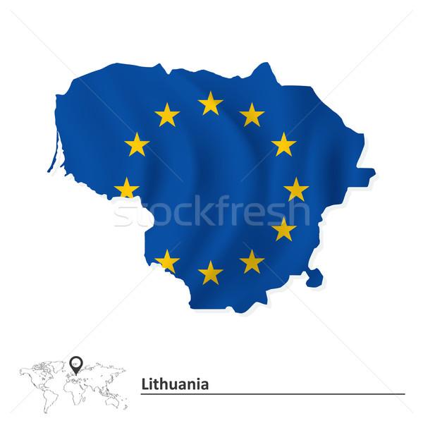 地図 リトアニア ヨーロッパの 組合 フラグ 抽象的な ストックフォト © ojal