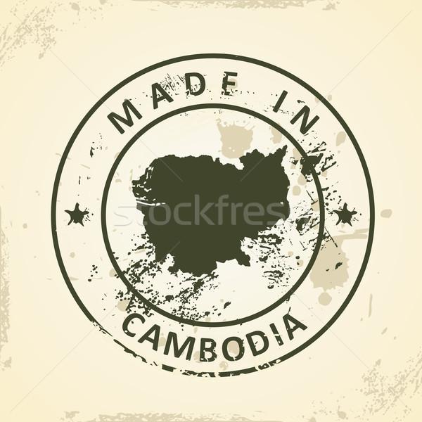 Carimbo mapa Camboja grunge cidade abstrato Foto stock © ojal
