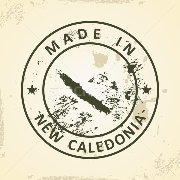 Stamp with map of New Caledonia Stock photo © ojal