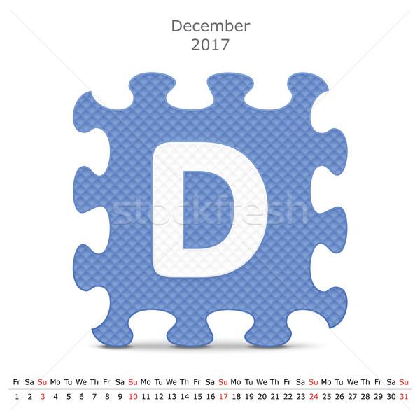 декабрь головоломки календаря бизнеса бумаги искусства Сток-фото © ojal