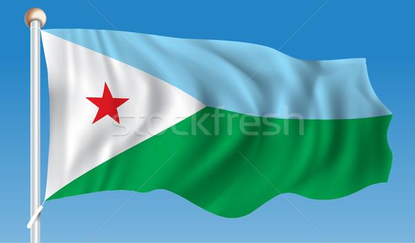 флаг Джибути аннотация искусства белый диаграммы Сток-фото © ojal