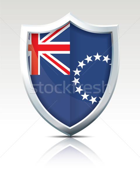 щит флаг Кука текстуры Мир Сток-фото © ojal