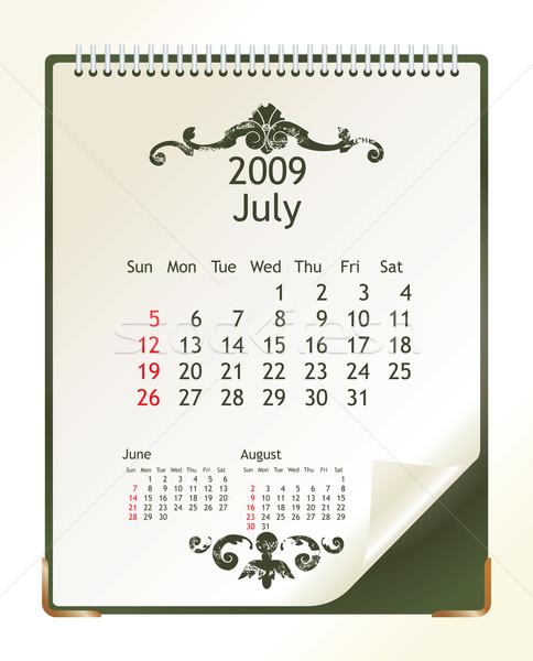 2009 naptár iroda tavasz terv tél Stock fotó © ojal