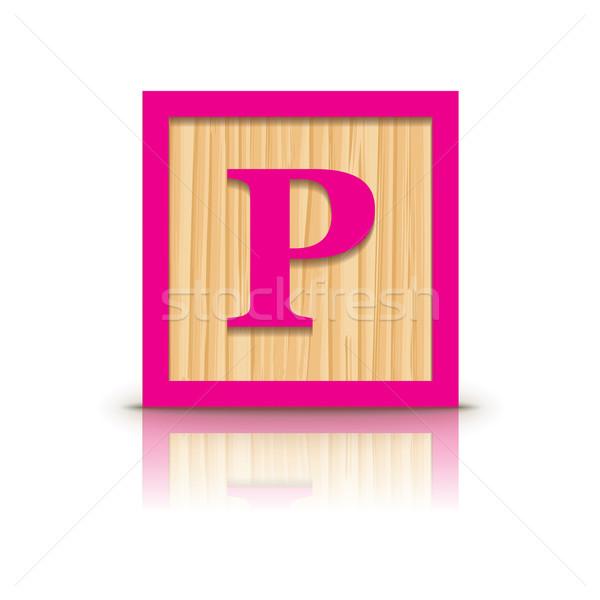 Stok fotoğraf: Vektör · ahşap · alfabe · iş · inşaat