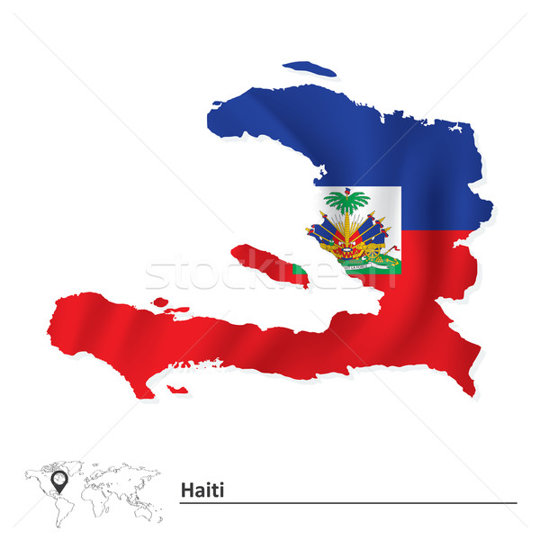 Harita Haiti bayrak dizayn arka plan seyahat Stok fotoğraf © ojal
