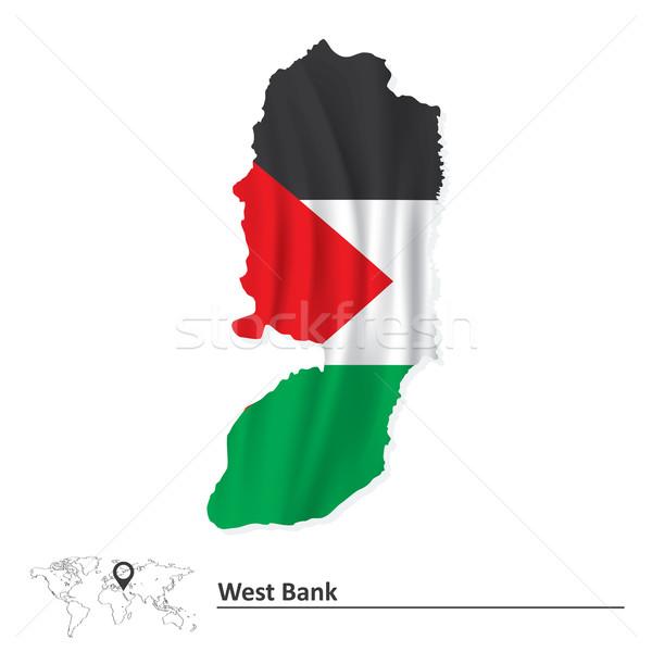 地圖 西方 銀行 旗 地球 邊境 商業照片 © ojal
