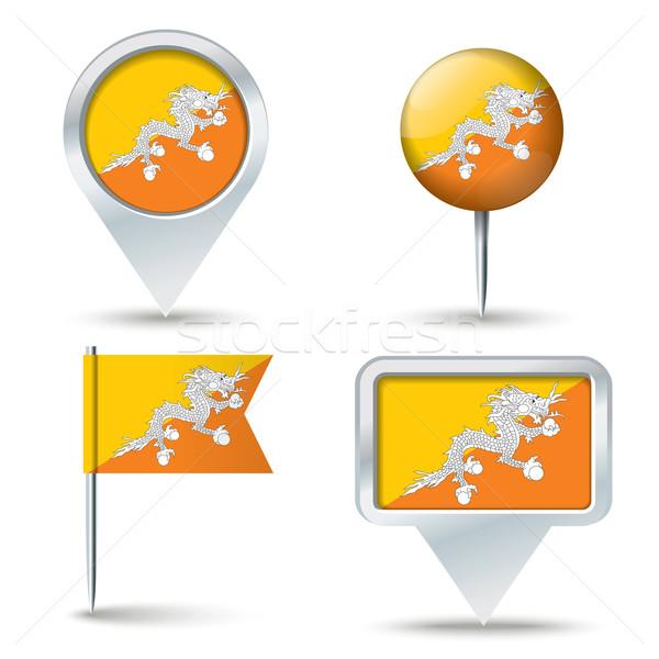 Mapa bandeira Butão negócio estrada branco Foto stock © ojal