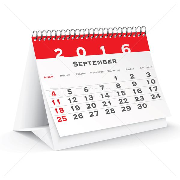 September 2016 desk calendar Stock photo © ojal