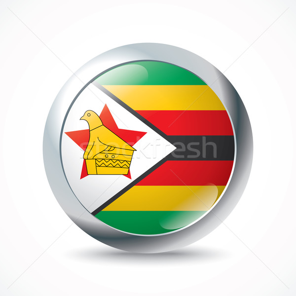 Zimbabwe flag button Stock photo © ojal