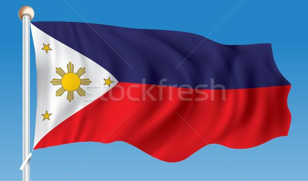 Vlag Filippijnen reizen asian wind asia Stockfoto © ojal