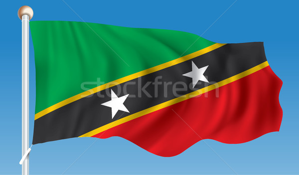 Flag of Saint Kitts and Nevis Stock photo © ojal