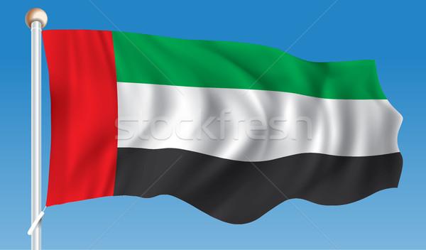 флаг Объединенные Арабские Эмираты текстуры знак зеленый ветер Сток-фото © ojal