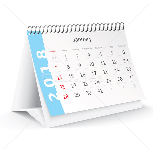 January 2018 desk calendar Stock photo © ojal