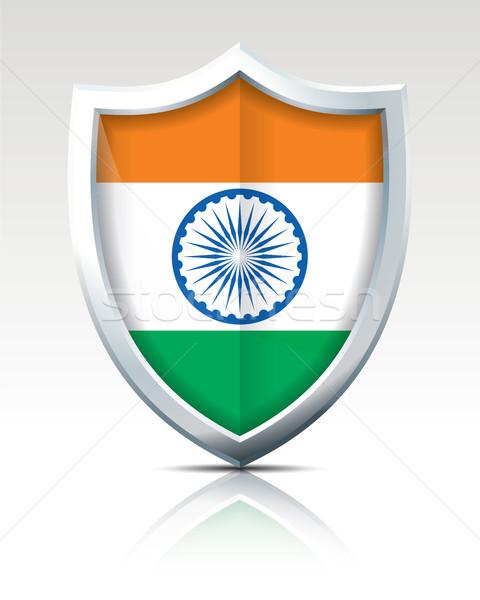 Schild vlag Indië abstract kunst reizen Stockfoto © ojal