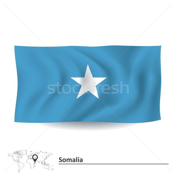 Сток-фото: флаг · Сомали · текстуры · знак · звездой · Африка