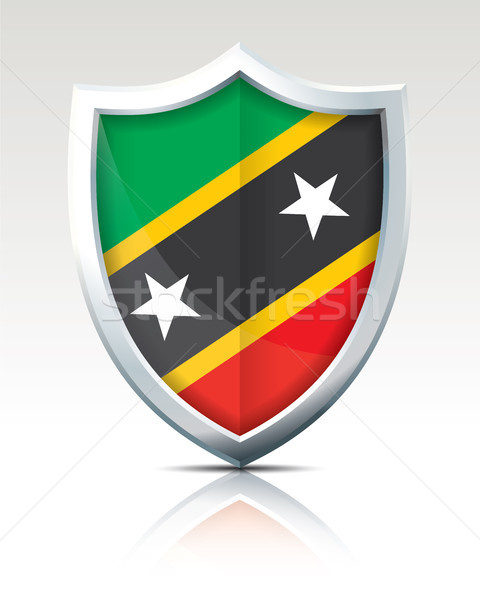 Shield with Flag of Saint Kitts and Nevis Stock photo © ojal